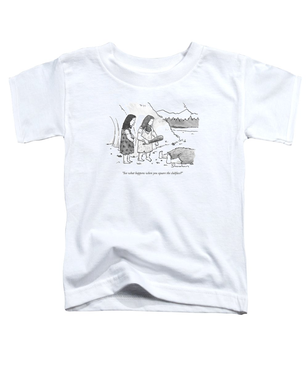 Golf Toddler T-Shirt featuring the drawing See What Happens When You Square The Clubface? by Danny Shanahan
