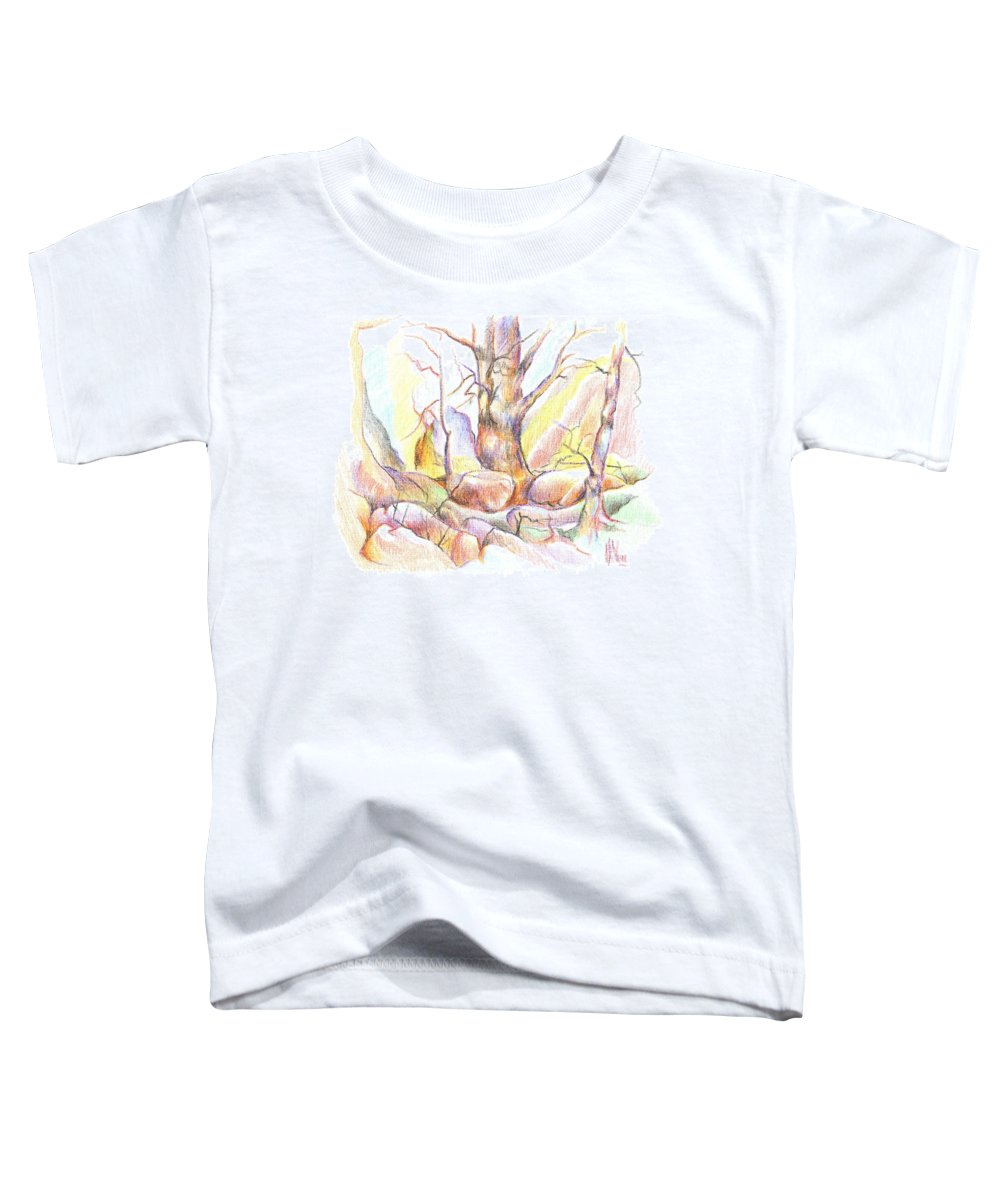 Softly Speaking Toddler T-Shirt featuring the painting Softly Speaking by Kip DeVore