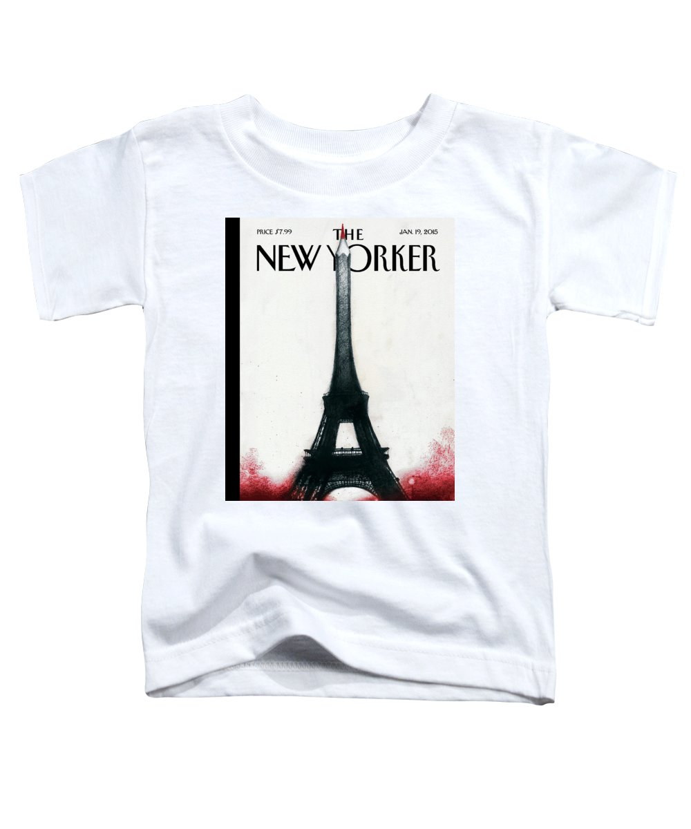 Charlie Hebdo Toddler T-Shirt featuring the painting Solidarite by Ana Juan