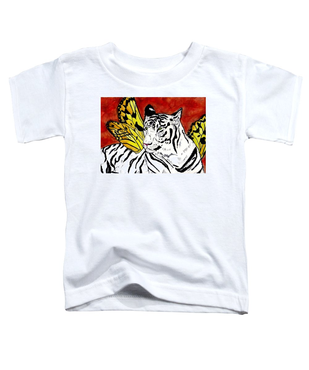 Tiger Toddler T-Shirt featuring the painting Soul Rhapsody by Crystal Hubbard
