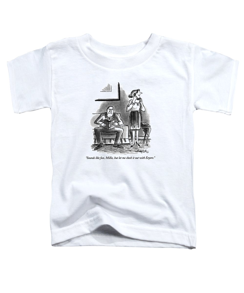 Relationships Toddler T-Shirt featuring the drawing Sounds Like Fun by Henry Martin
