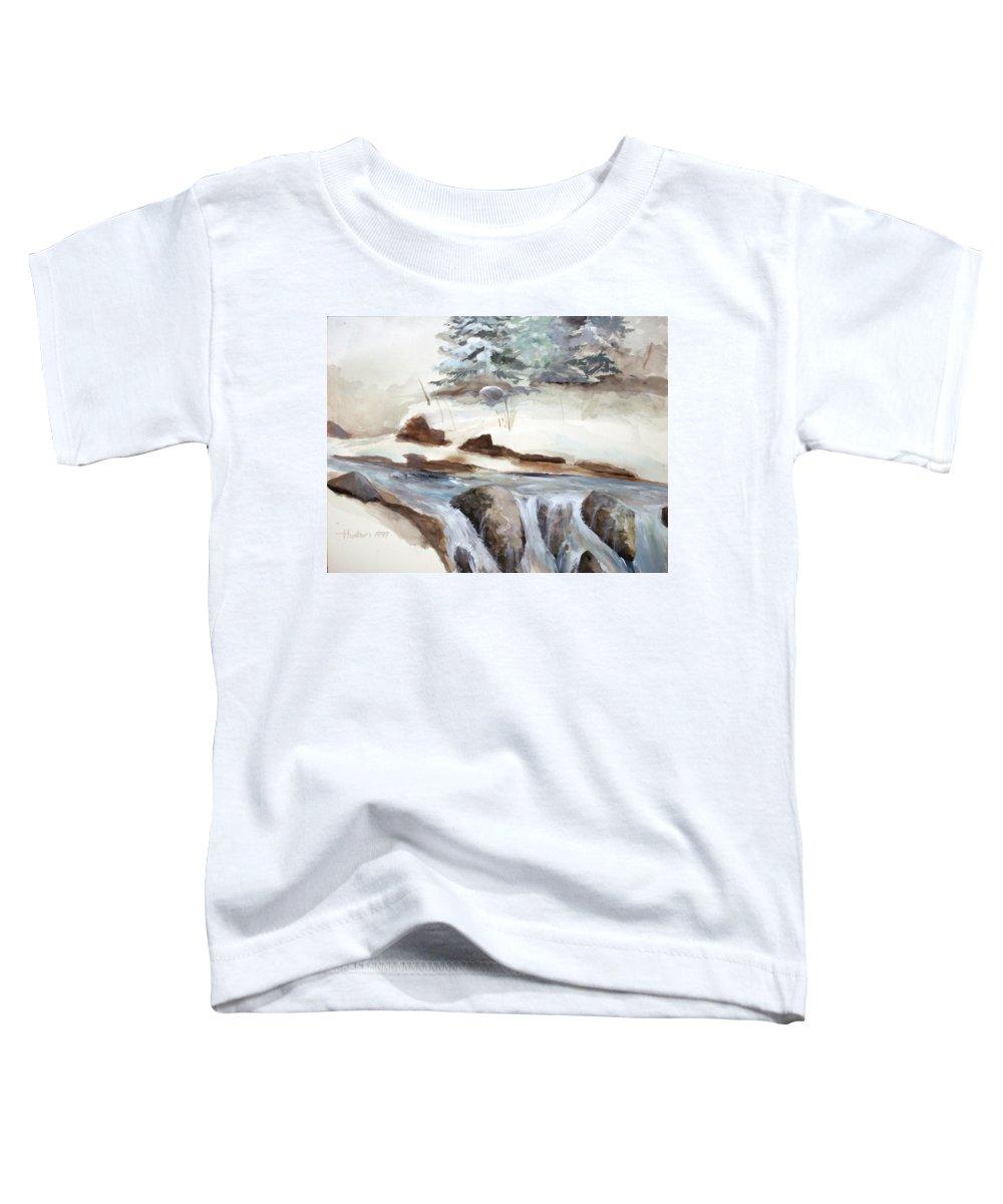 Rick Huotari Toddler T-Shirt featuring the painting Springtime by Rick Huotari