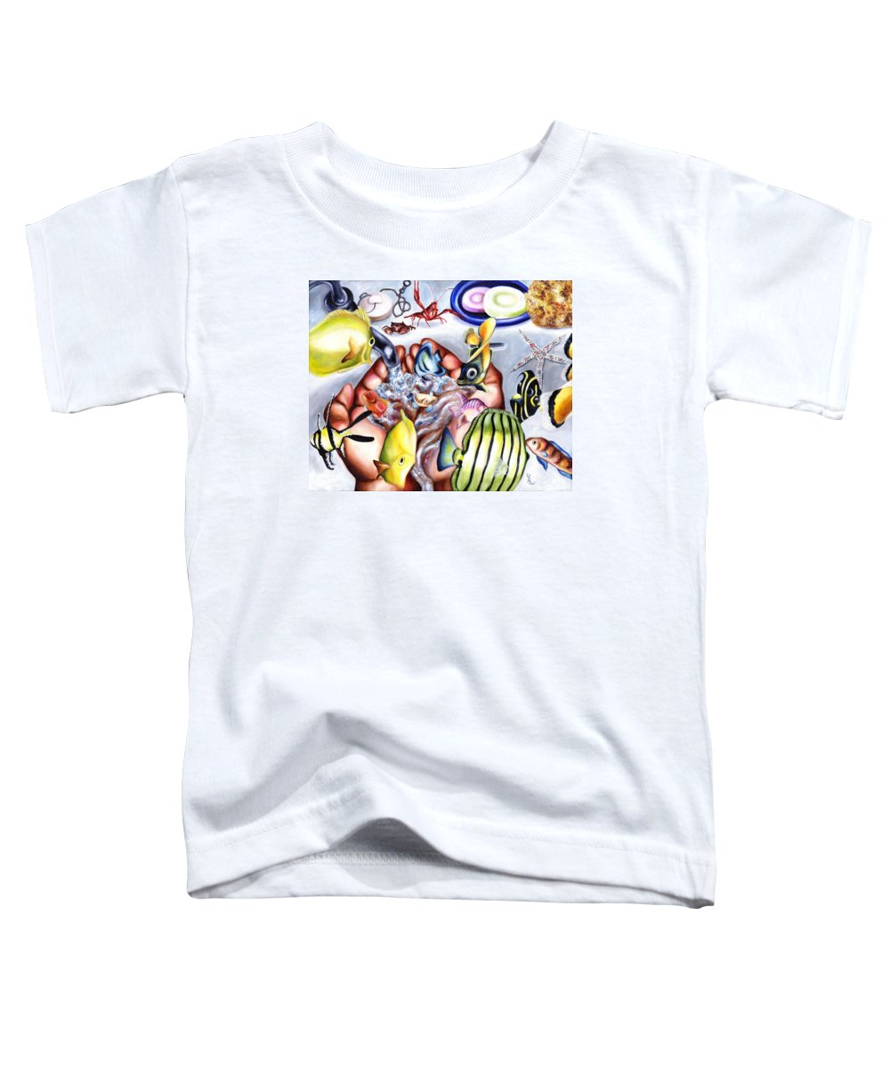 Dream Toddler T-Shirt featuring the painting Still Drunk by Hiroko Sakai