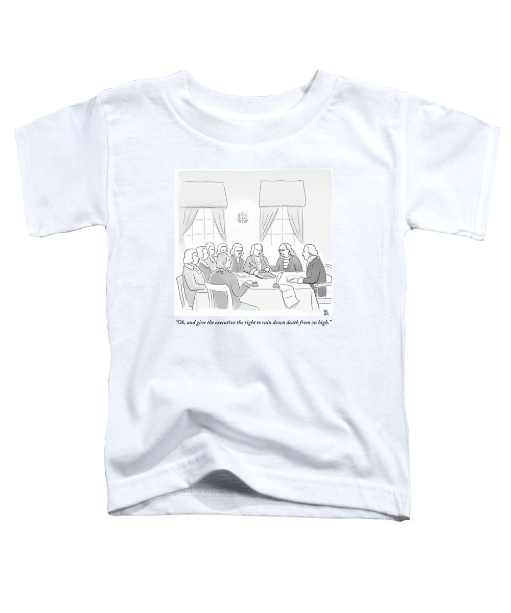 Constitution Toddler T-Shirt featuring the drawing The Founding Fathers Drafting The Constitution by Paul Noth