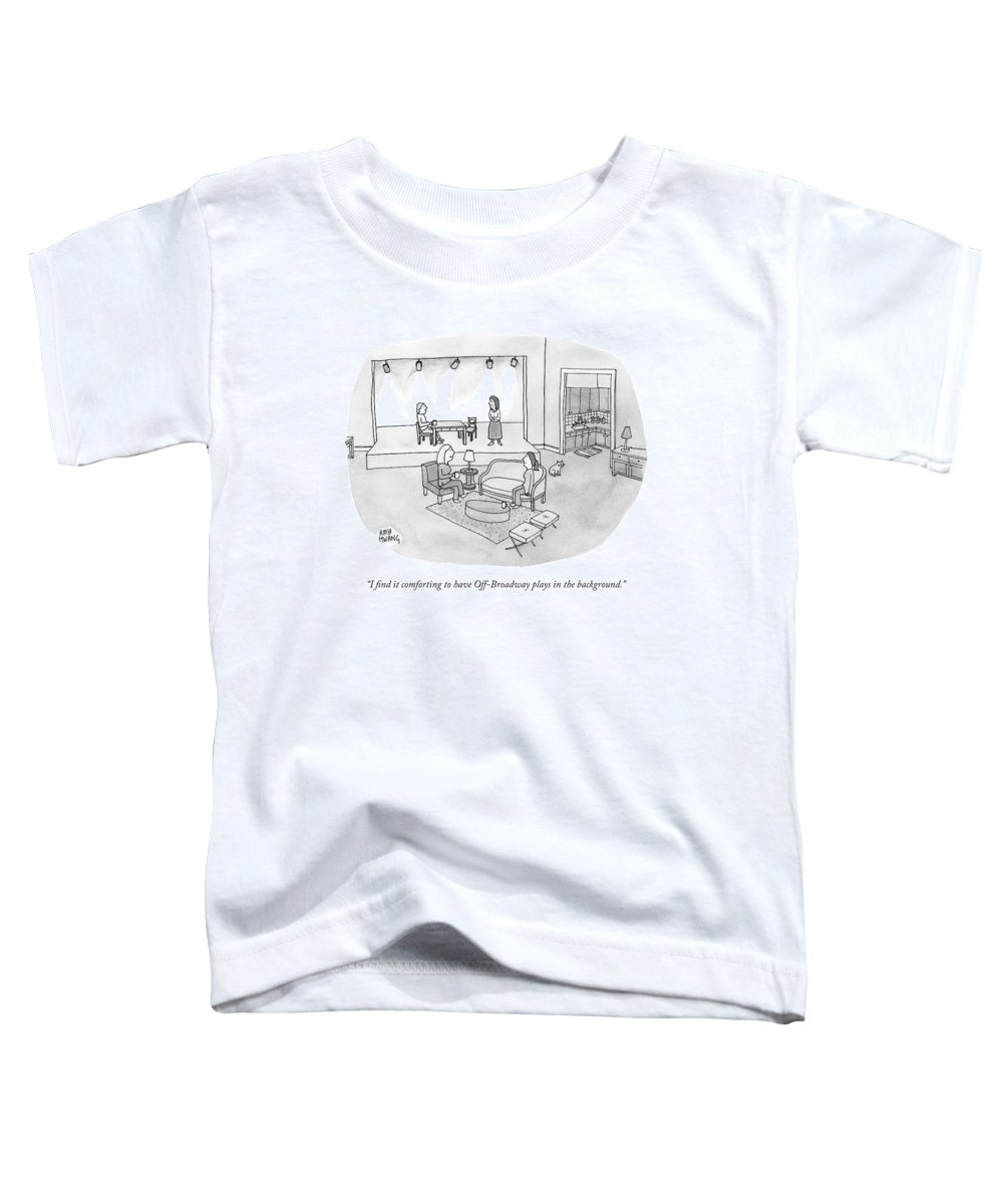 Living Room Toddler T-Shirt featuring the drawing Two Women Chat In A Living Room by Amy Hwang