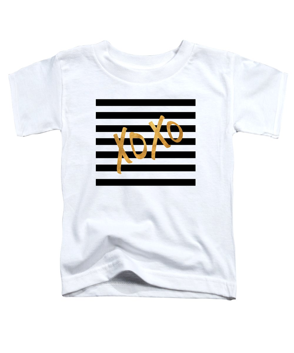 Valentines Toddler T-Shirt featuring the digital art Valentines Stripes IIi by South Social Studio