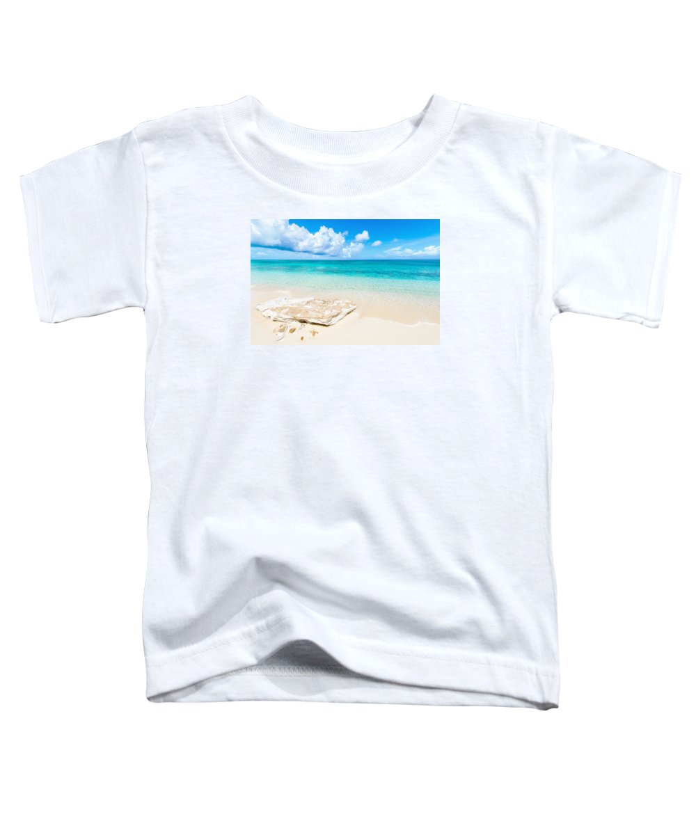 White Sand Toddler T-Shirt featuring the photograph White Sand by Chad Dutson