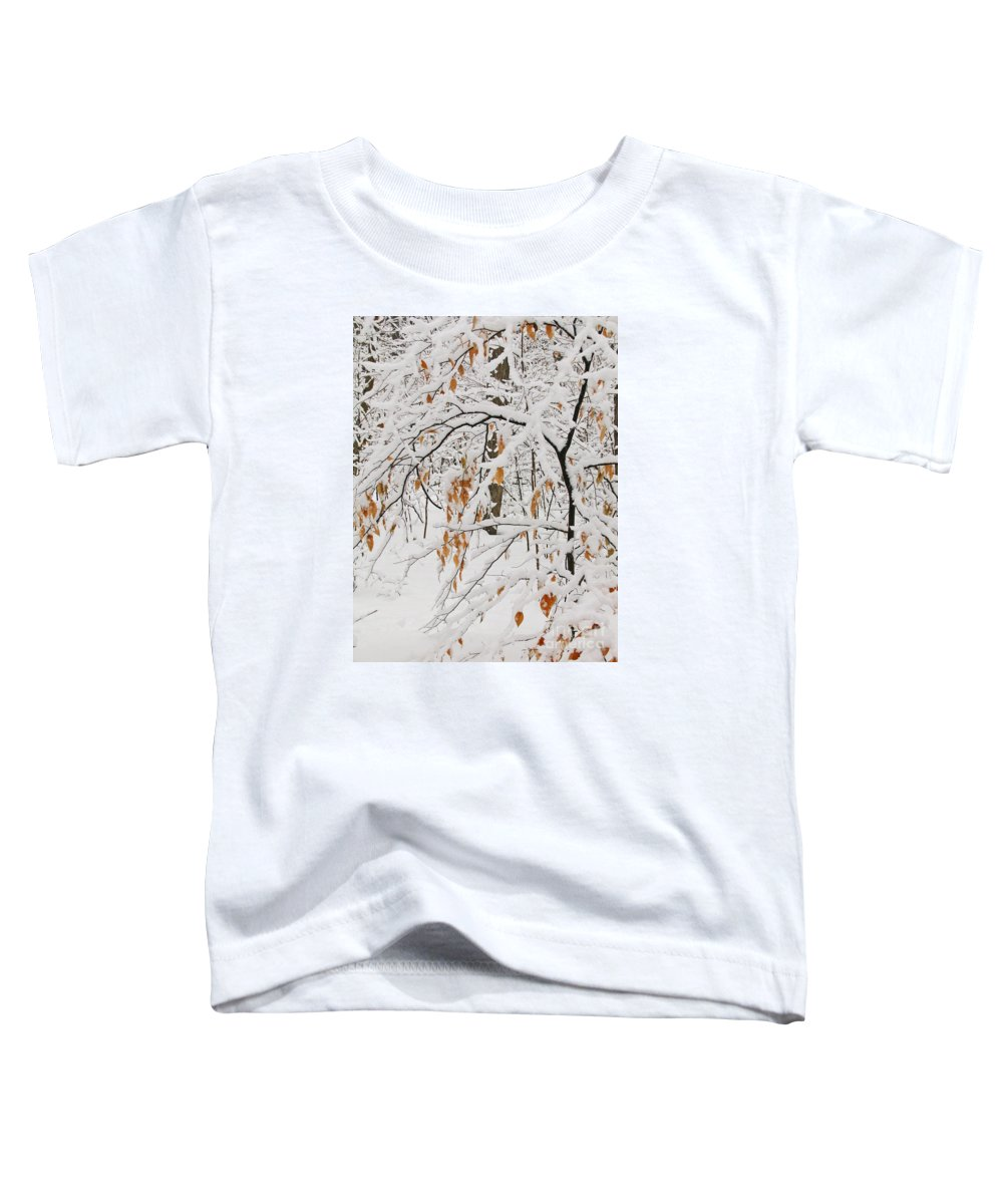 Winter Toddler T-Shirt featuring the photograph Winter Branches by Ann Horn