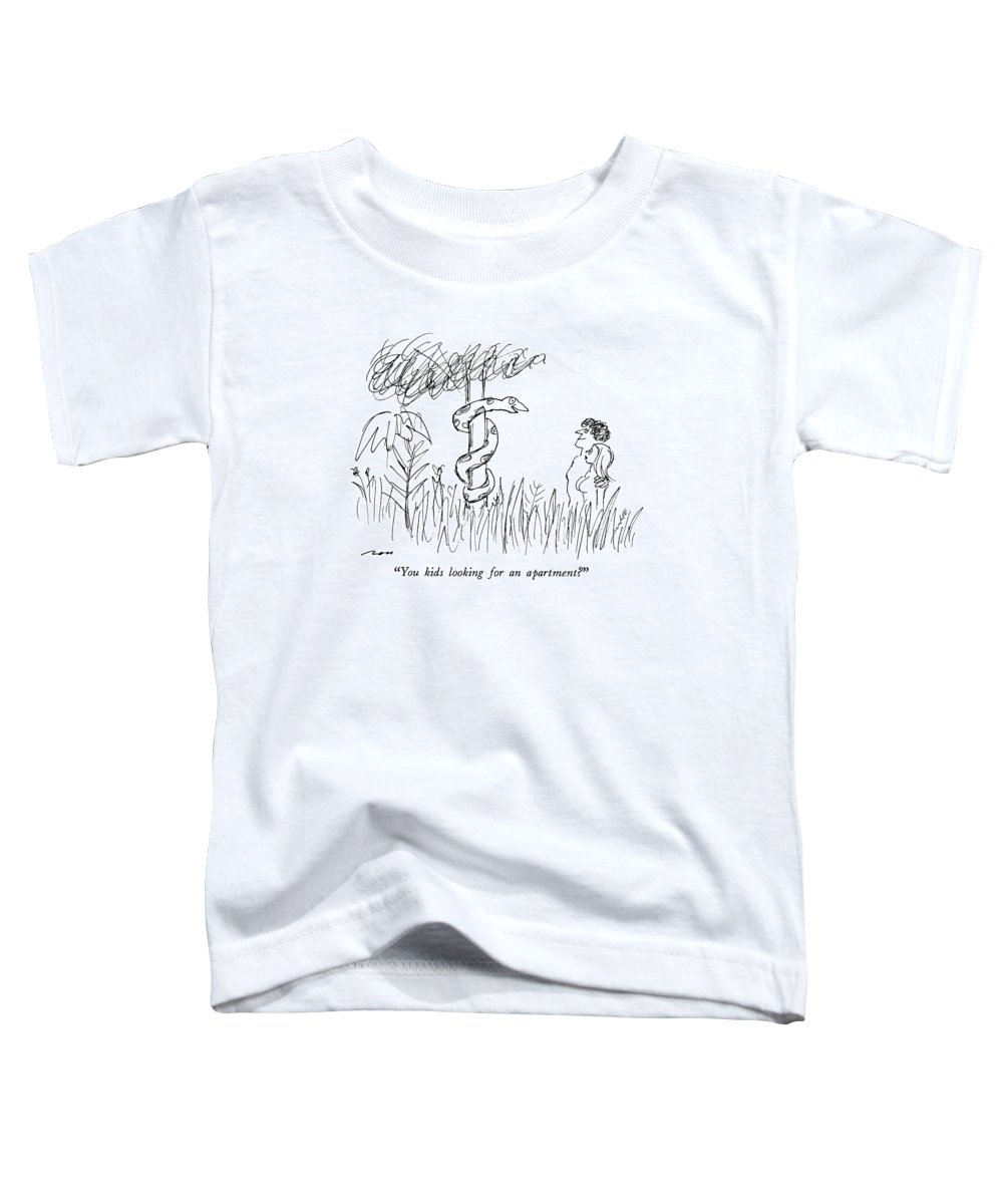 Religion Toddler T-Shirt featuring the drawing You Kids Looking For An Apartment? by Al Ross