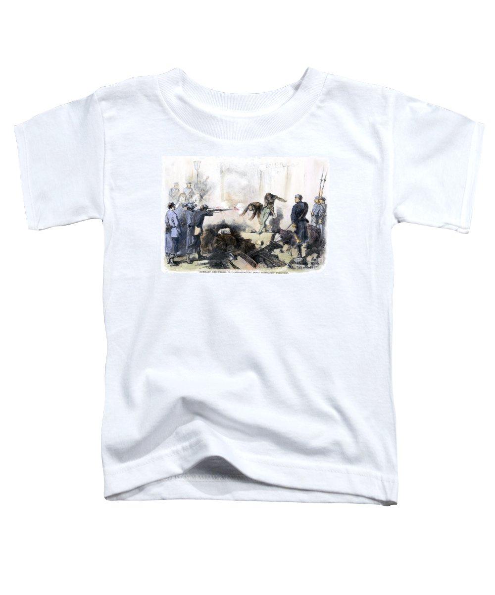 1871 Toddler T-Shirt featuring the photograph Paris Commune, 1871 by Granger