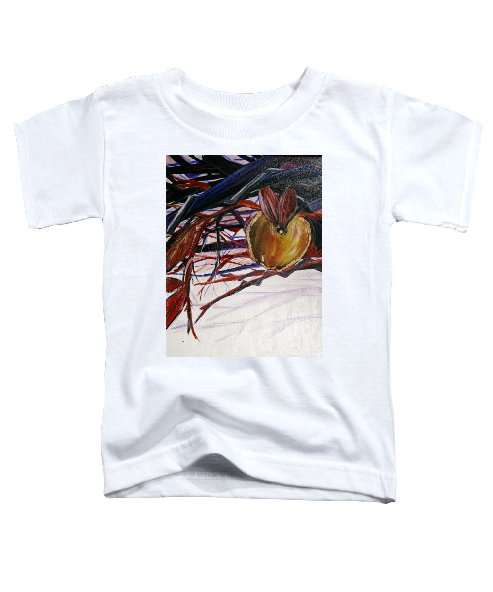 Apple Toddler T-Shirt featuring the painting Fifth World One by Kate Fortin