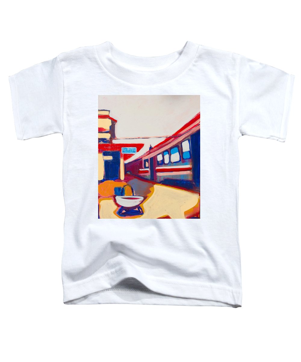 Train Station Toddler T-Shirt featuring the painting Locale by Kurt Hausmann