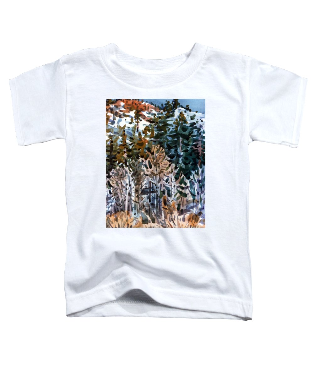 Walker River Toddler T-Shirt featuring the painting Along The Walker River by Donald Maier