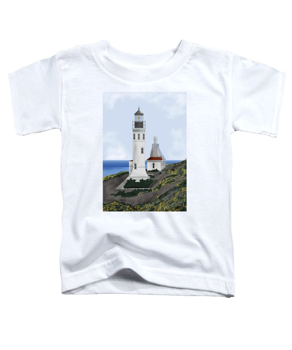 Lighthouse Toddler T-Shirt featuring the painting Anacapa Lighthouse California by Anne Norskog