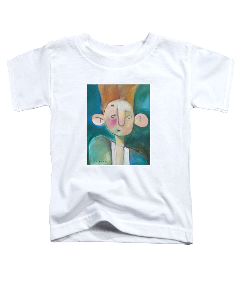Funny Toddler T-Shirt featuring the painting Bad Hair Life by Tim Nyberg