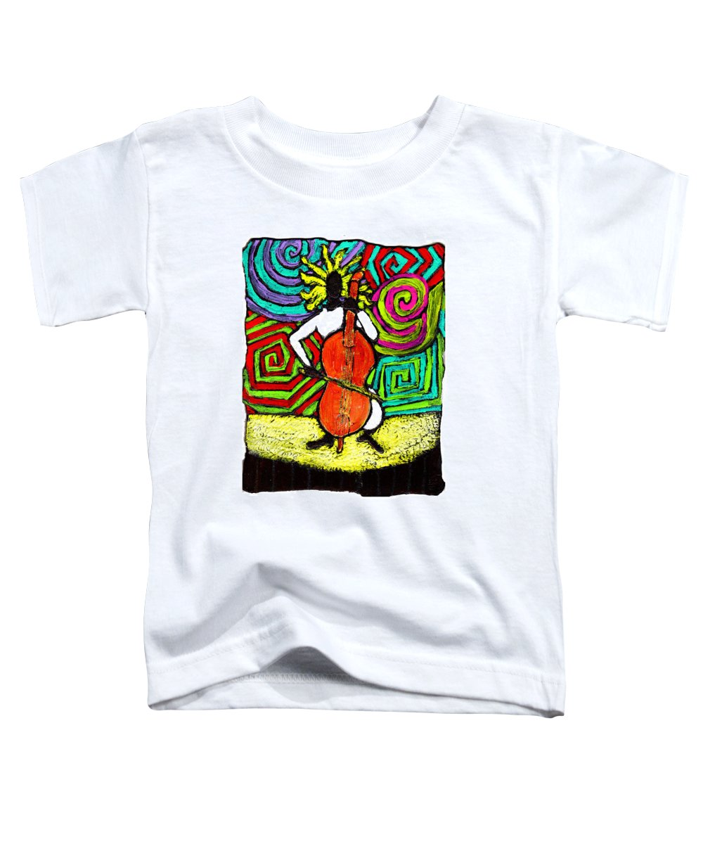Music Toddler T-Shirt featuring the painting Cello Soloist by Wayne Potrafka