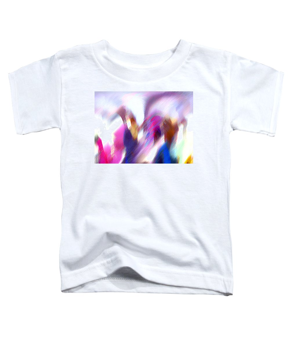 Digital Media Toddler T-Shirt featuring the painting Color Dance by Anil Nene
