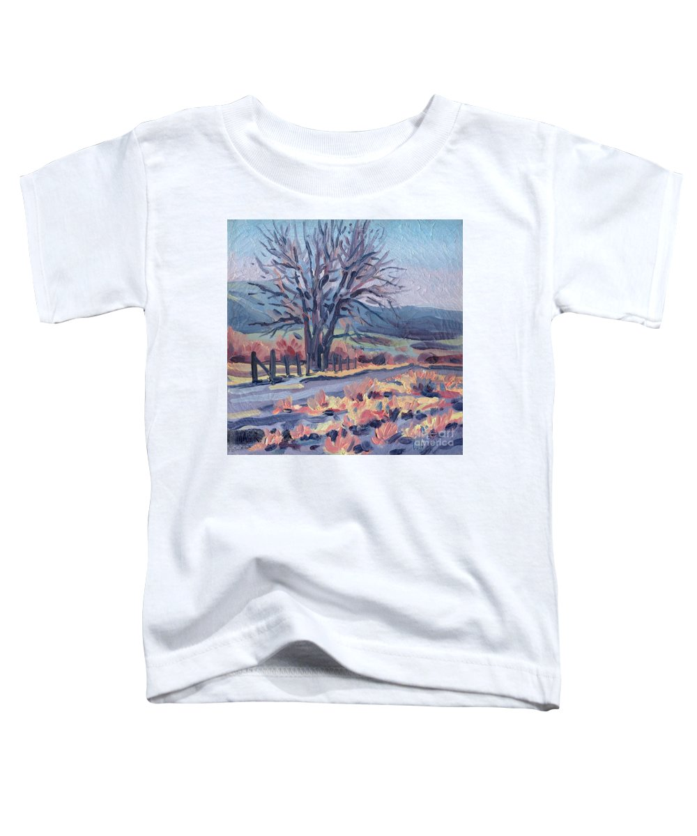 Road Toddler T-Shirt featuring the painting Country Road by Donald Maier