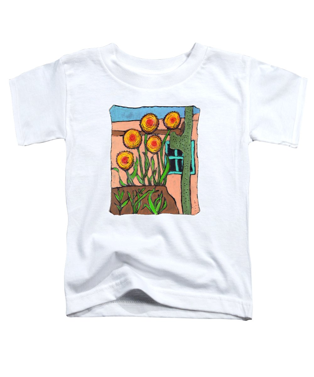 Desert Toddler T-Shirt featuring the painting Desert Fantasy by Wayne Potrafka