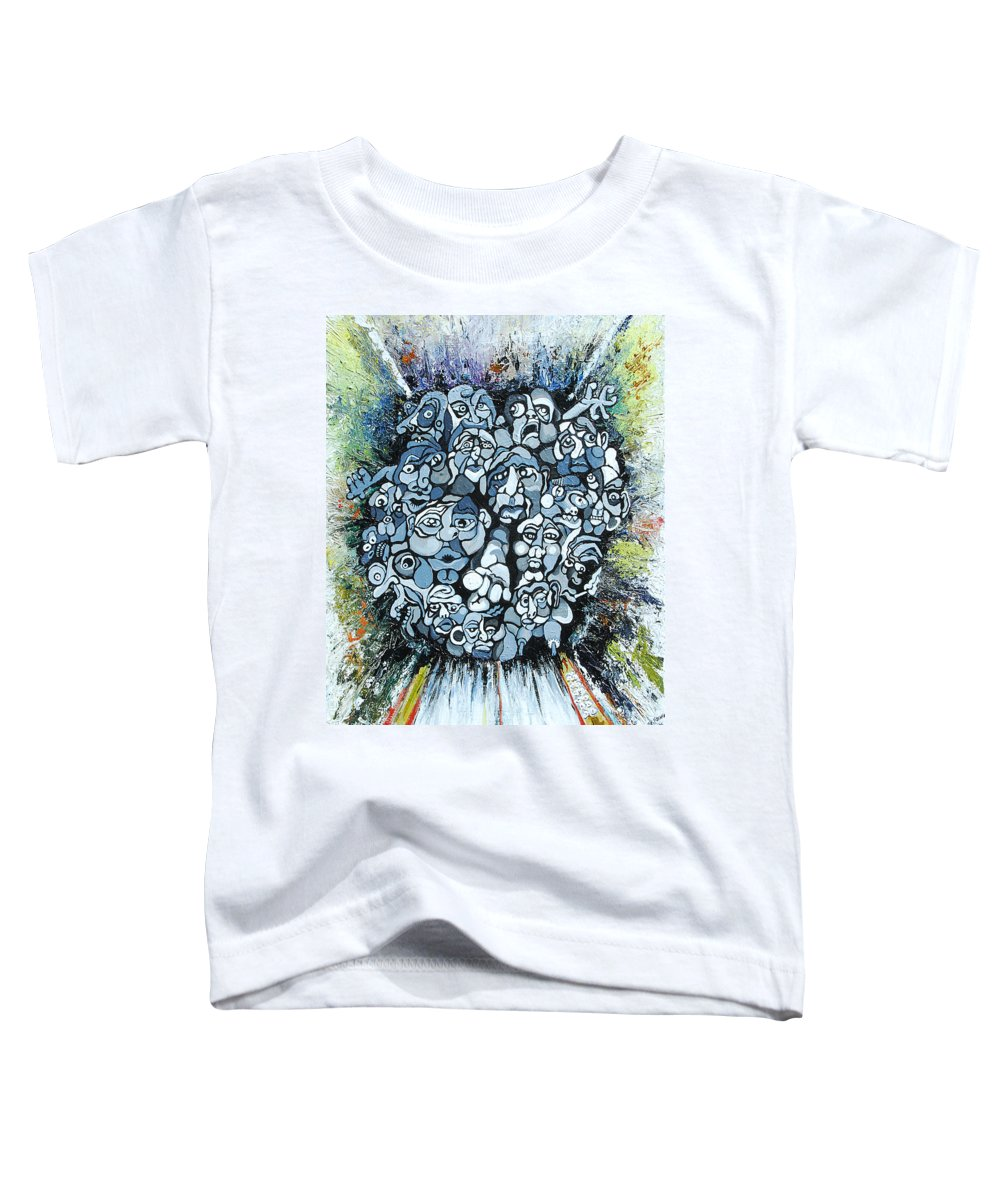 Surreal Toddler T-Shirt featuring the painting Elevator by Julie Fischer