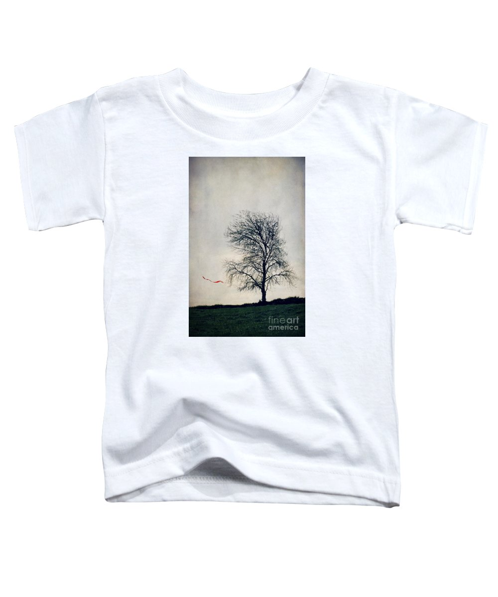 Art Toddler T-Shirt featuring the drawing Farewell by Svetlana Sewell