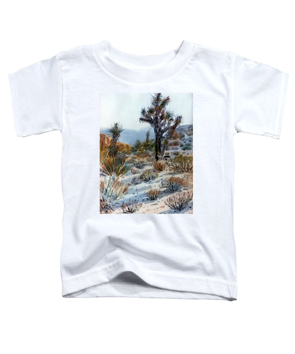 Joshua Tree Toddler T-Shirt featuring the painting Joshua Tree by Donald Maier