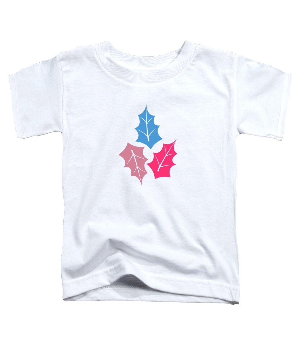 Tropical Toddler T-Shirt featuring the digital art Leaf Pattern by Amir Faysal
