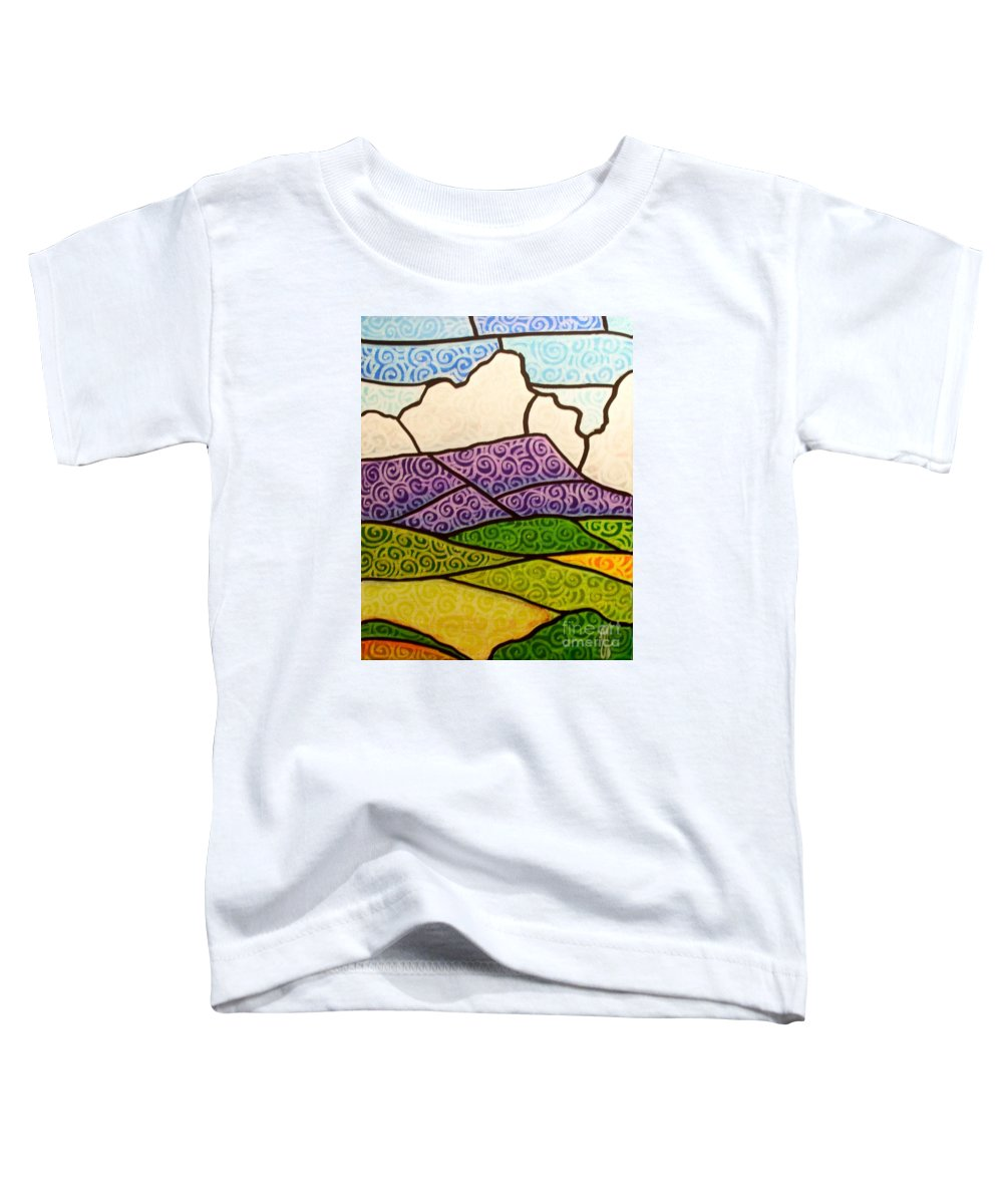 Mountians Toddler T-Shirt featuring the painting Massanutten Peak by Jim Harris