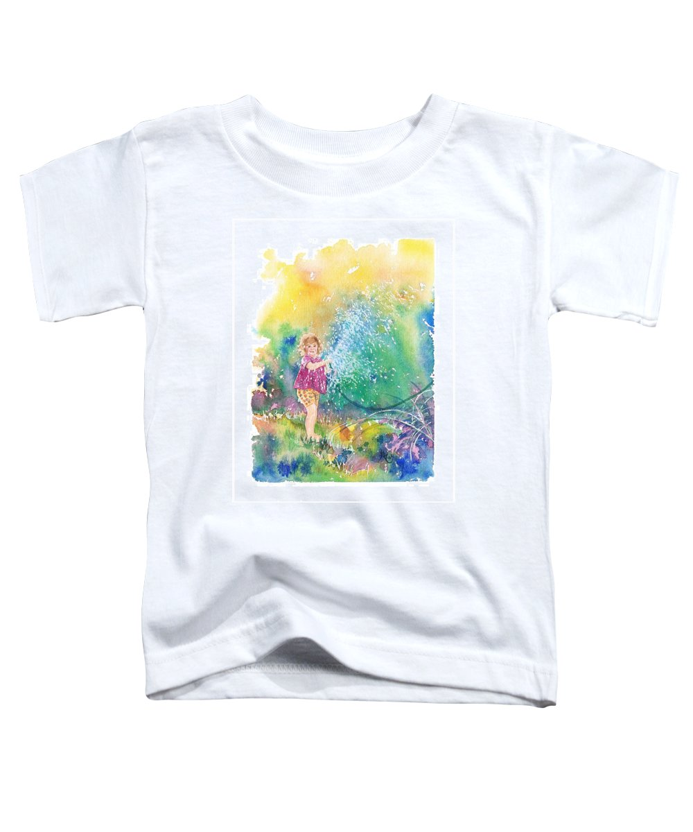 Children Toddler T-Shirt featuring the painting Summer Fun by Gale Cochran-Smith
