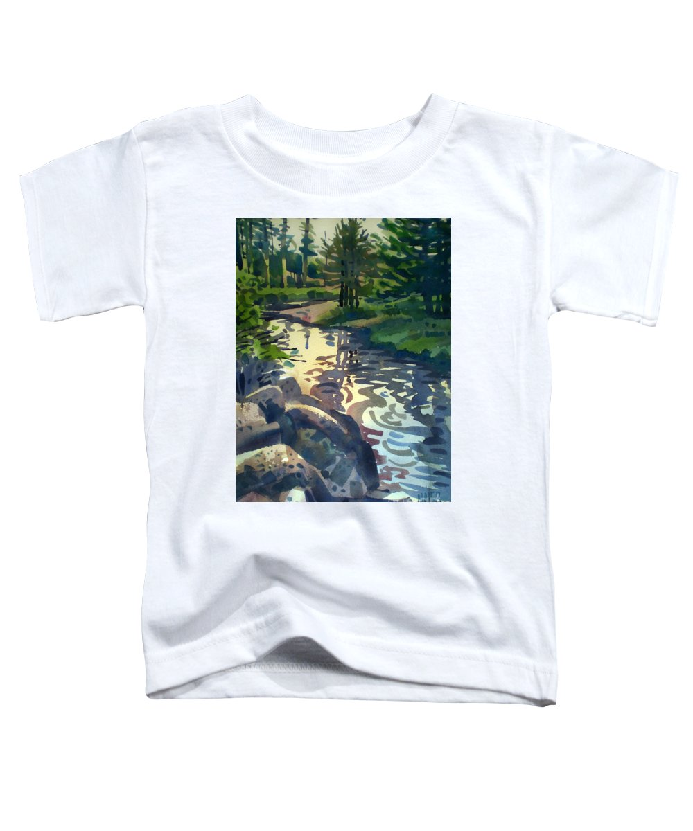 Stream Toddler T-Shirt featuring the painting Up With The Fishes by Donald Maier