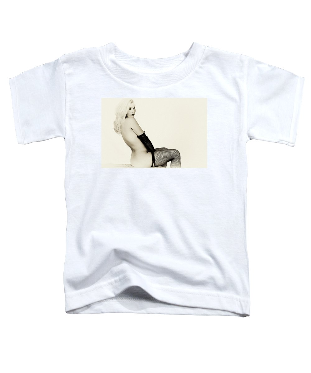 Clay Toddler T-Shirt featuring the photograph Vintage Pinup Glamour by Clayton Bruster