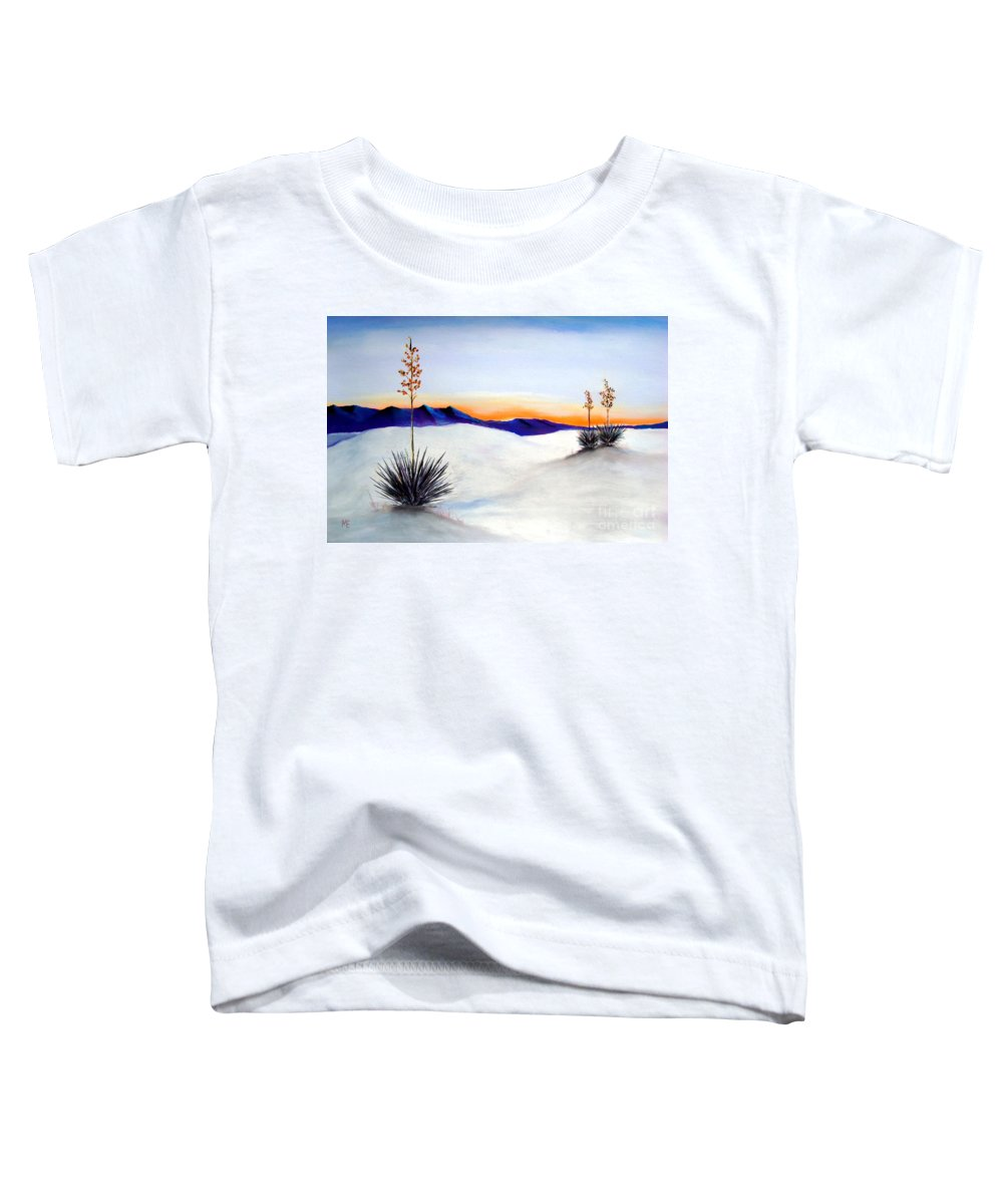 White Sands Toddler T-Shirt featuring the painting White Sands by Melinda Etzold