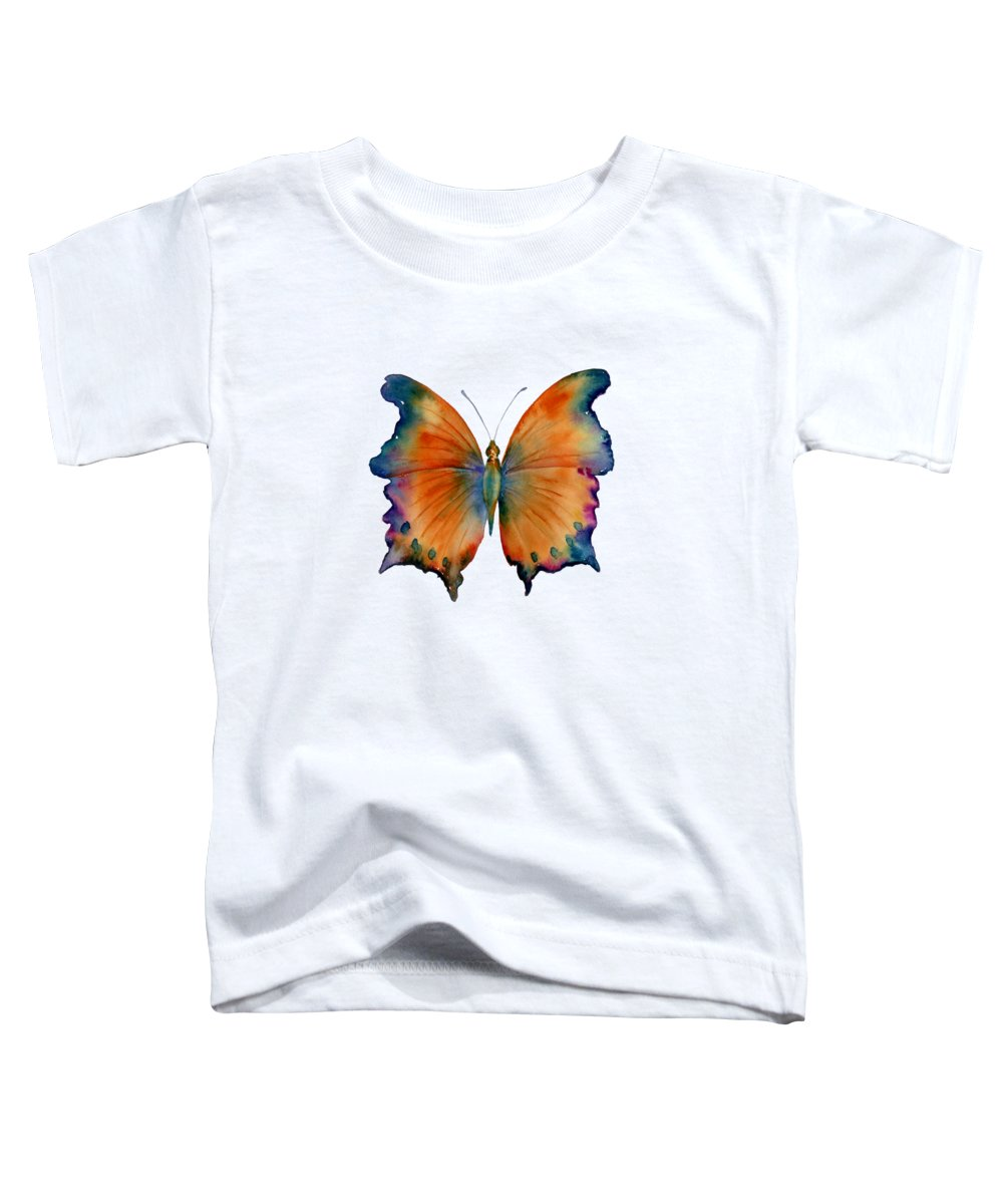 Orange Butterfly Toddler T-Shirts