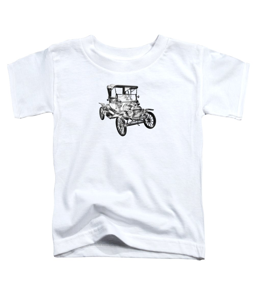 Classic Toddler T-Shirt featuring the photograph 1914 Model T Ford Antique Car Illustration by Keith Webber Jr