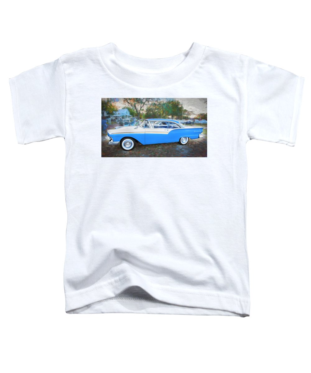 Toddler T-Shirt featuring the photograph 1957 Ford 2 Door Fairlane C130 by Rich Franco