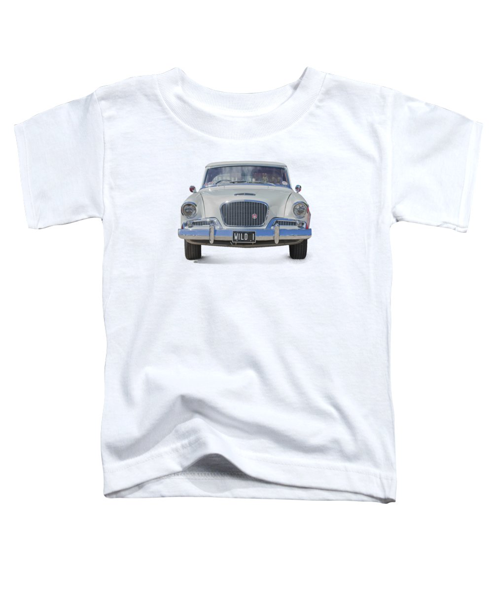 1961 Studebaker Car Toddler T-Shirt featuring the photograph 1961 Studebaker Hawk On A Transparent Background by Terri Waters
