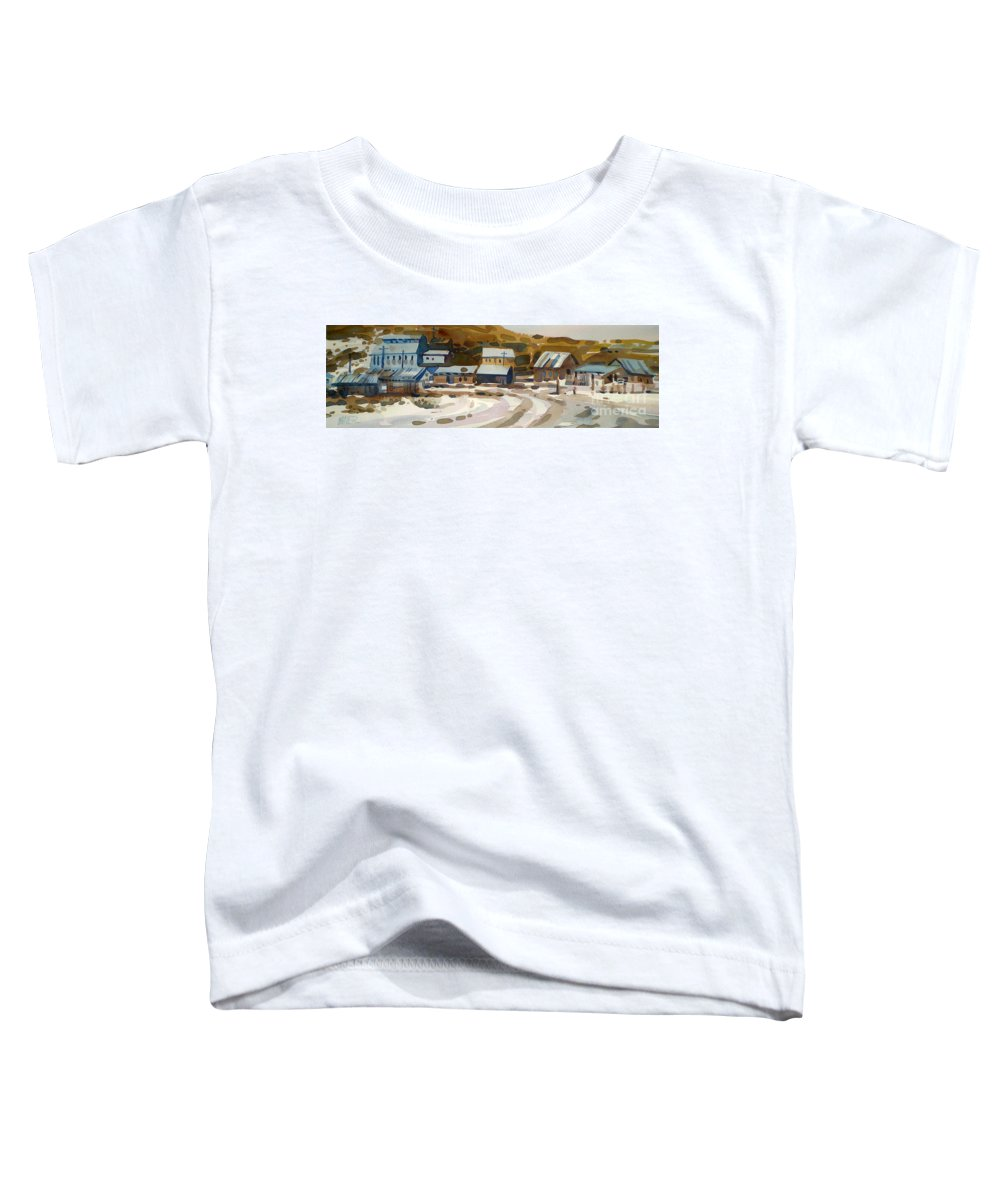 Ghost Town Toddler T-Shirt featuring the painting Bodie California 1979 by Donald Maier
