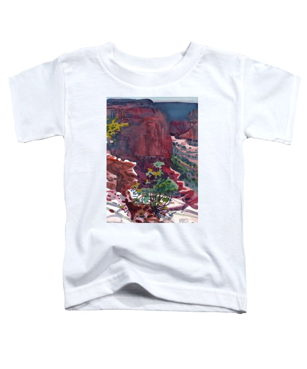 Canyon De Chelly Toddler T-Shirt featuring the painting Canyon View by Donald Maier