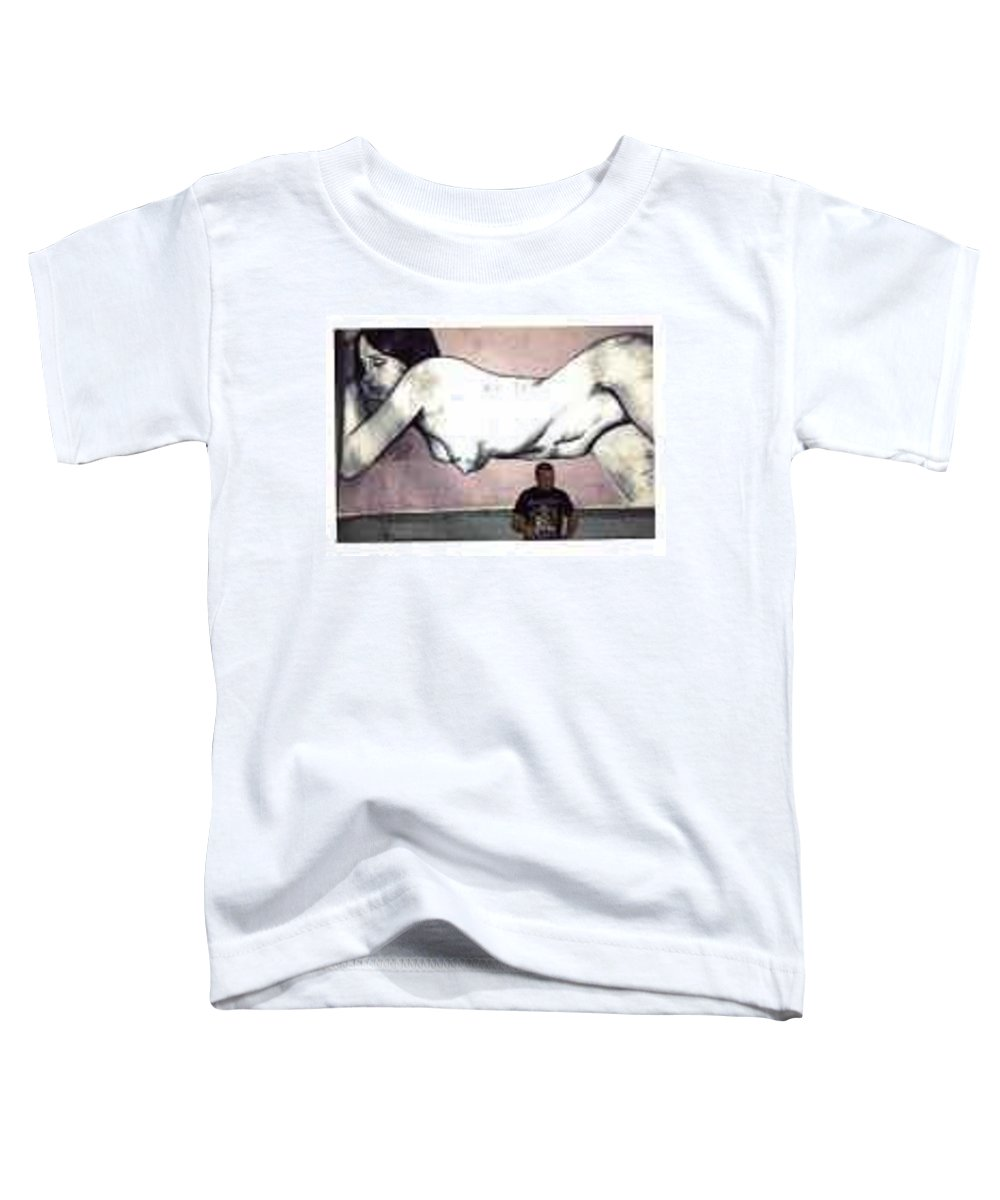 Nude Toddler T-Shirt featuring the painting Missy by Thomas Valentine