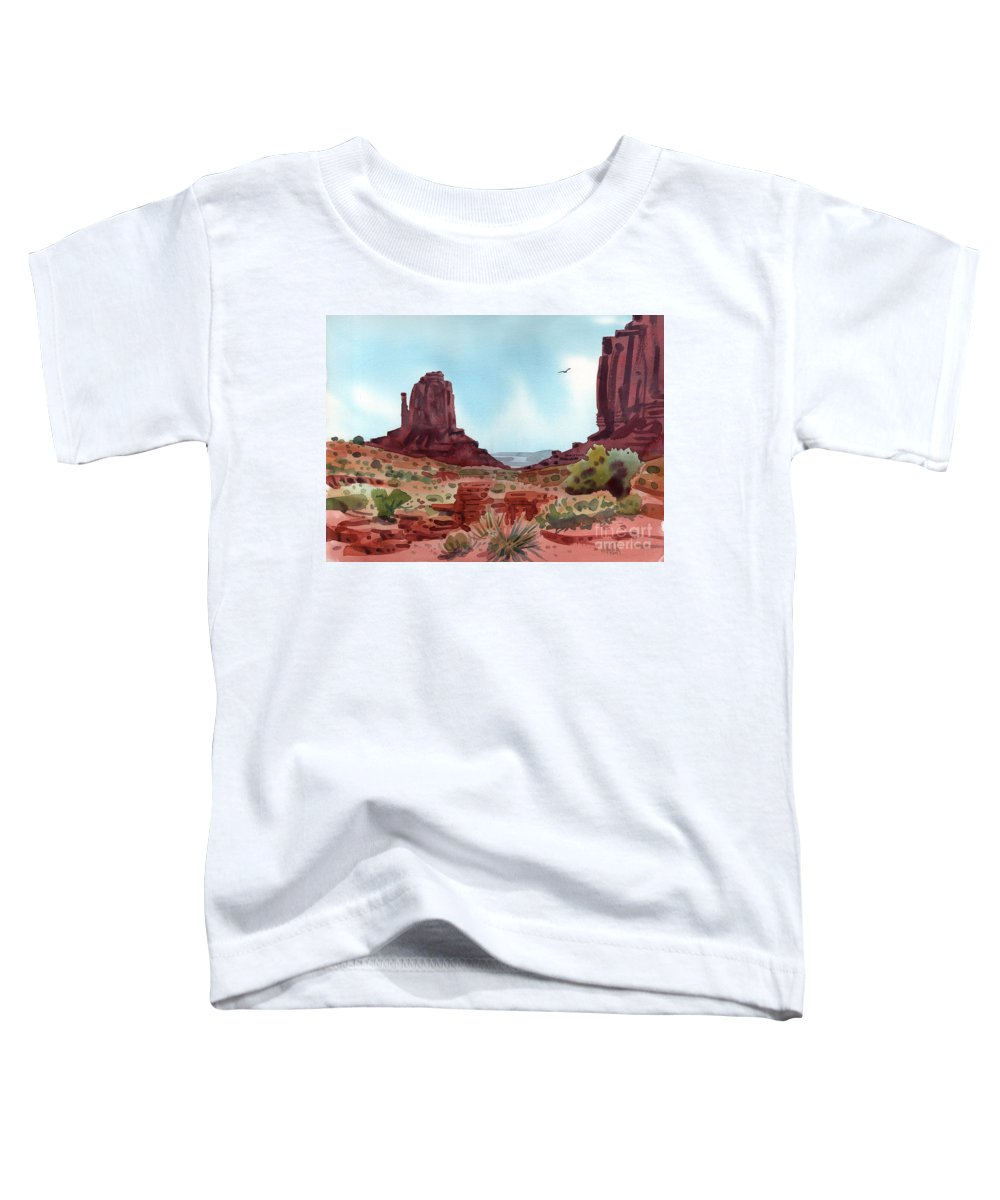 Right Mitten Toddler T-Shirt featuring the painting Right Mitten by Donald Maier