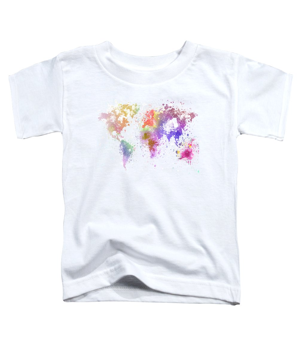 Adventure Toddler T-Shirt featuring the painting World Map Painting by Setsiri Silapasuwanchai