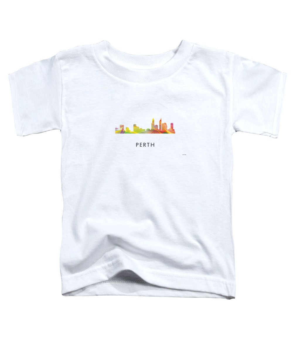 Perth Australia Skyline Toddler T-Shirt featuring the digital art Perth Australia Skyline by Marlene Watson