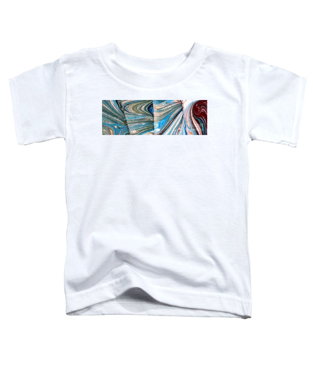 Abstract Toddler T-Shirt featuring the painting Water Marbling Art, Ebru by Dilan C