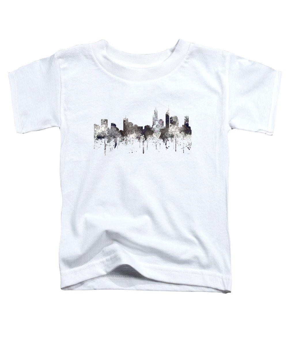 Perth Australia Skyline Toddler T-Shirt featuring the digital art Perth Australia Skyline by Marlene Watson