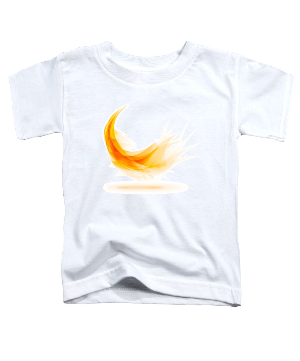 Abstract Toddler T-Shirt featuring the painting Abstract Feather by Setsiri Silapasuwanchai