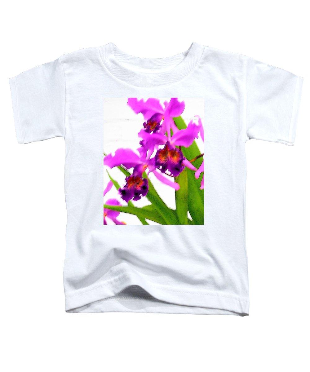 Flowers Toddler T-Shirt featuring the digital art Abstract Iris by Anita Burgermeister