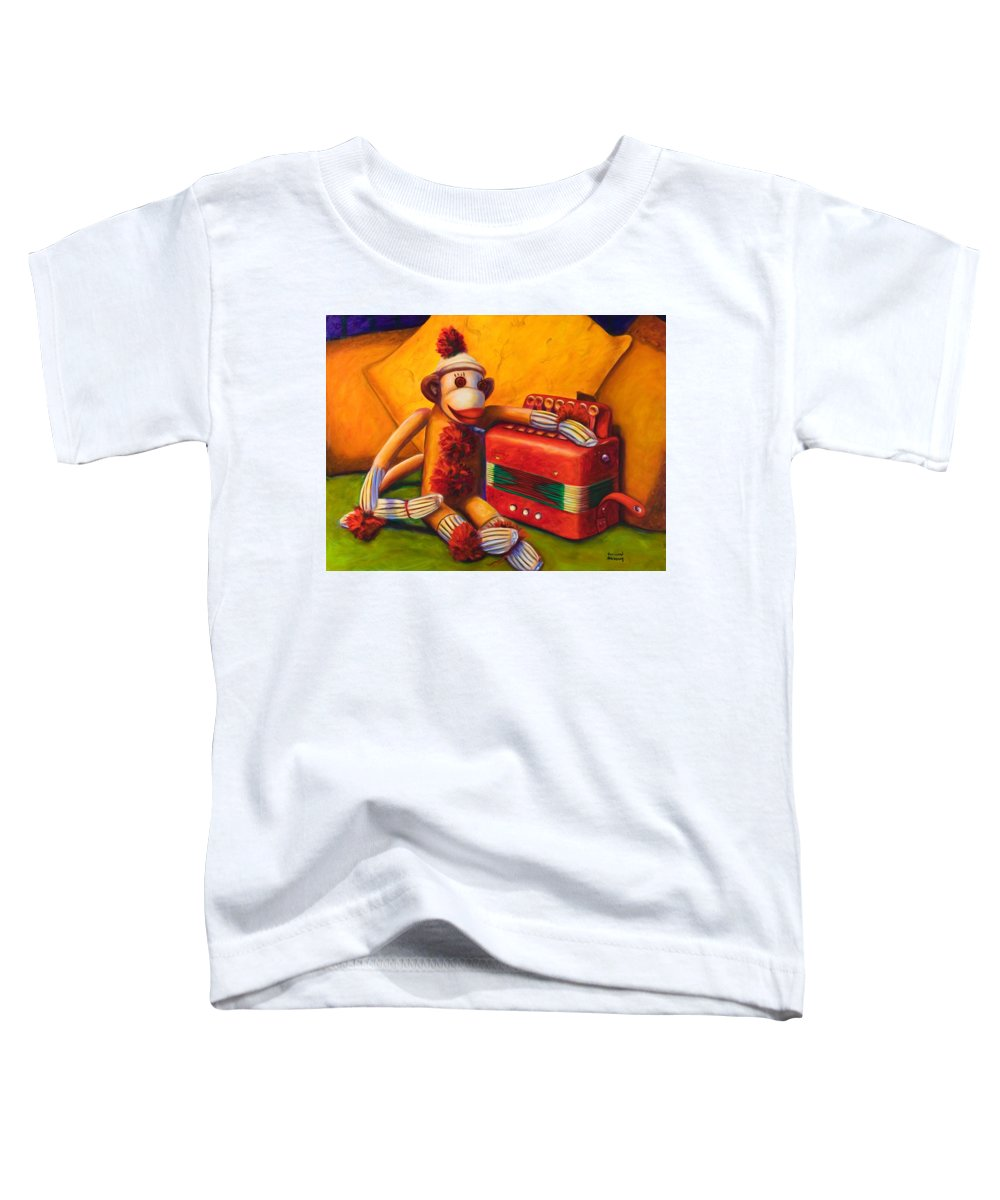 Children Toddler T-Shirt featuring the painting Accordion by Shannon Grissom