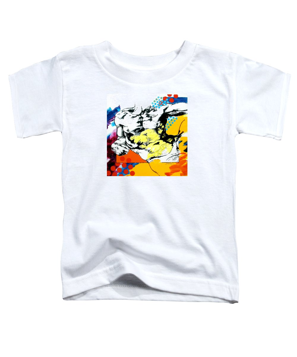 Pop Toddler T-Shirt featuring the painting Adam by Jean Pierre Rousselet
