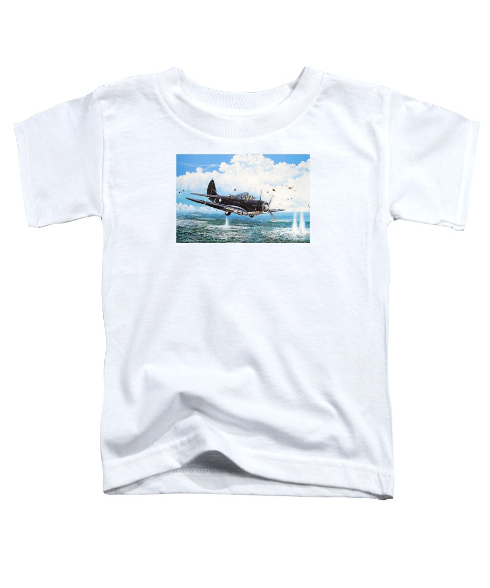 Military Toddler T-Shirt featuring the painting Against The Odds by Marc Stewart