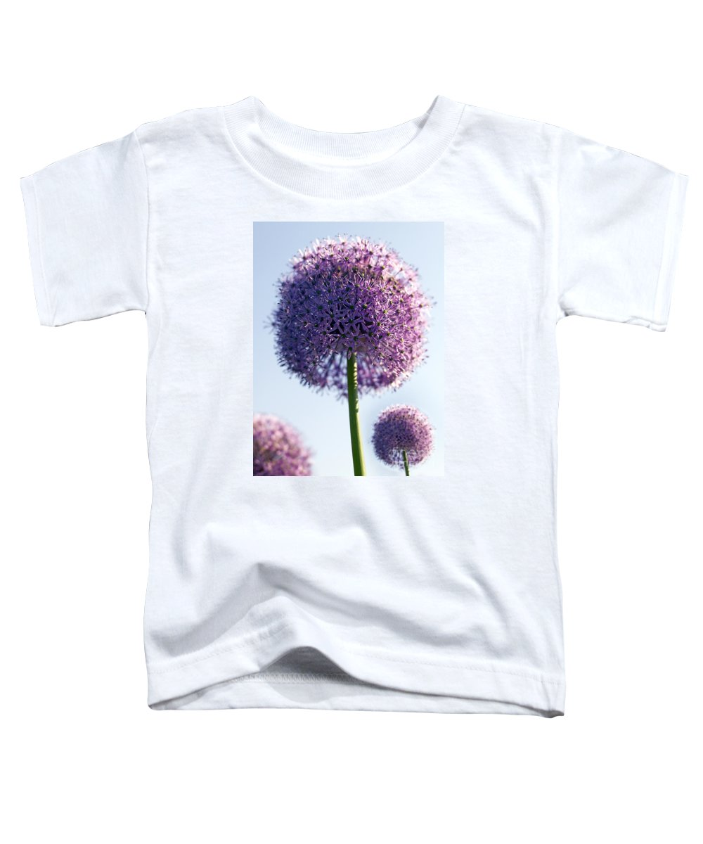 Allium Toddler T-Shirt featuring the photograph Allium Flower by Tony Cordoza